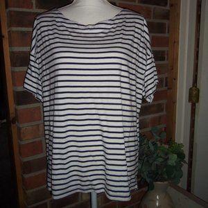 Boden Short Sleeve Breton Striped Top XL